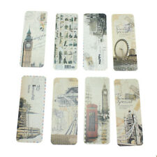 30x Vintage Eiffel Tower Bookmark EU Scenes Book Marker Office Stationery asf