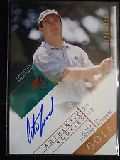 Peter Lonard 2003 SP Authentic Rookies Autograph Card #/1999