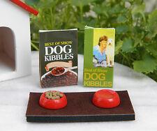 Miniature Dollhouse FAIRY GARDEN Accessories ~ Dog Food & Dish Set ~ NEW