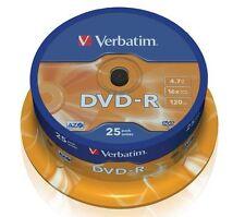 25 DVD Verbatim -R 4.7 GB 16x DVD-R CERTIFICADOS y ORIGINALES 10 20 25 100 CD