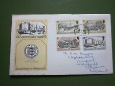 "GUERNSEY First Day Cover ""OLD PRINTS""  1978"