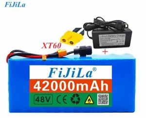 48V 42Ah 1000gwatt 13S3P battery MH1 54.6v e-bike scooter with 25A discharge
