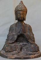 "8"" China old antique tibet Bronze Shakya Muni Buddha statue"