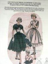 NG Creations Sewing Pattern 1952 Dress Overskirt & Bolero fits Barbie Doll