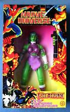 10 INCH SHE-HULK MARVEL UNIVERSE COMICS DELUXE FIGURE TOY BIZ 1997 SHE HULK