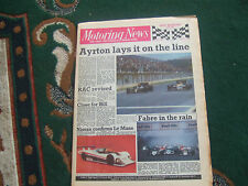 Motoring News 16 April 1986 Spanish GP Silverstone GpA F3000 Sarn Helen MN Rally