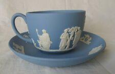 Wedgwood Bleu Tasse et  Soucoupe thé ou café , motif Rome Antique