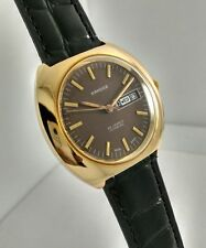 NOS Vintage Sandoz Automatic Day-Date watch Swiss Made men's ,10μm Gold Plated