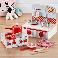 My Play Wooden Toy Kitchen Pan Playset Kids Children Role Play 10pc Gift Set NEW