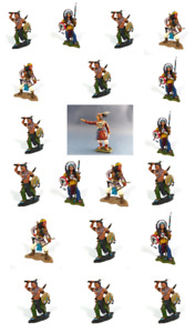 Lot de 20 Figurines Indiens 1/32 60mm Geronimo Sitting Bull Cowboy - IL1+3
