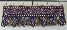 Indian Wall Hanging Ethnic Toran Tapestry Embroidery Sequins Black Multi