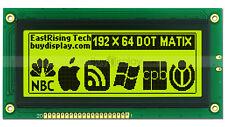 """4""""19264 192x64 Dots Graphic LCD Module Display GLCD w/KS0107+KS0108 w/Tutorial"""