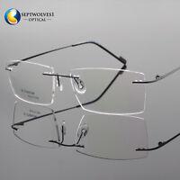 Men's β-Titanium Rimless Reading Glasses UV400 Coating Lens Reader +0.00 ~+5.00
