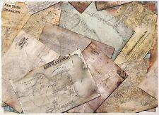 Carta di riso per Decoupage Decopatch Scrapbook Craft sheet A/3 VINTAGE CITY Maps
