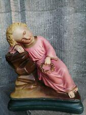 Vintage Chalkware Plaster Child Jesus ore St John the Baptist Home Altar Statue