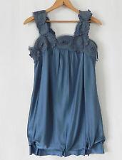 BCBG Maxzaria Dress Size XXS (loose fit) Blue Summer Silk Satin  Bubble