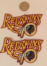 "(2) Washington Redskins Vintage Embroidered Iron On Patches 3.5"" x 2.5 Awesome!"