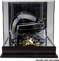 San Jose Sharks Mahogany Logo Mini Helmet Display Case