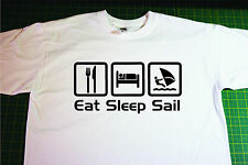 Eat, Sleep, Windsurf T-Shirt. In White. Size Medium. Wind, Surf, Board
