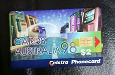 1998 $2 PHONECARD - *CARDS AUSTRALIA EXPO* - COMPLIMENTARY ONLY - MINT - RARE