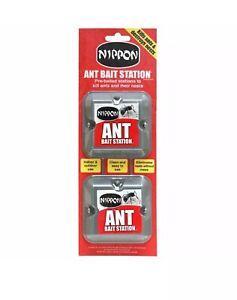 Nippon Ant Killer Bait Station Nest Trap Pre-Baited Twin Box.