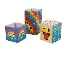 Pack of 12 - Emoji Rainbow Poop Popcorn Boxes - Party Supplies