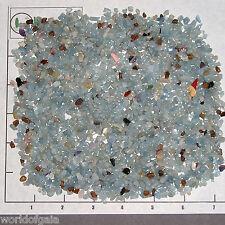 BERYL BLUE, 4-10mm tumbled 1/2 lb bulk xmini stones translucent aquamarine