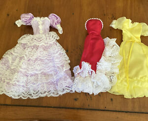 vintage 1980s Barbie dresses lace one is Lucky Ind Co
