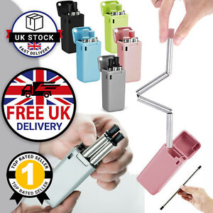 Collapsible Straw Eco-Friendly Reusable Straw Metal Straw & Safe Silicon Tips UK