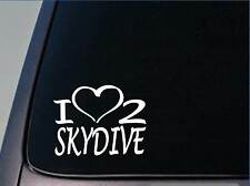 I heart to skydive sticker *H220* 8 inch wide vinyl parachute decal