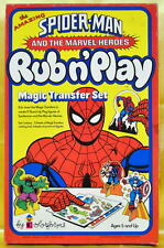 Vintage SPIDER-MAN RUB & PLAY COLORFORMS PLAYSET MIB 1978 Marvelmania