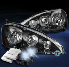 FOR 2005-2006 ACURA RSX DC5 REPLACEMENT BLACK HEADLIGHTS HEADLAMPS W/8K HID KIT