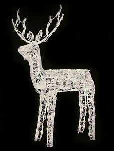 """48"""" Animated Crystal 3-D Standing Deer Lighted Outdoor Christmas Decoration New"""