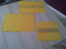 Tischdecken im 3er Set sehr alt in Gelb