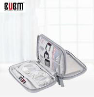 BUBM Power Bank Hard Disk Earphone Charger Cable USB Organizer Bag Gray Color