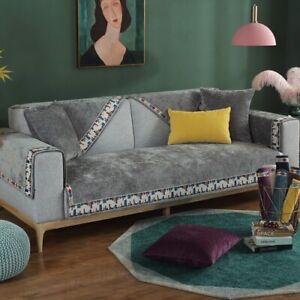 Modern Sofa Towel Chenille Sofa Cushion Cover Slipcover Non-slip Couch Covers