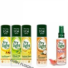 FryLight cottura spray 190ml-Girasole Olio D'oliva Burro Di Cocco 1 CAL per Spray