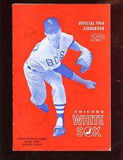 1966 MLB Program Signed by 8 Boston Red Sox Hologram