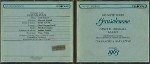 Giuseppe Verdi Gerusalemme Melodram MEL 27004 2 CD Set Italy Import 1987