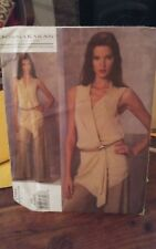 Oop Donna Karan Vogue 1168 misses sheer wrap tunic and wide pants sz 4-10 NEW