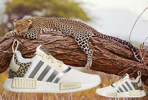 ADIDAS ORIGINALS NMD R1 ANIMAL PRINT RUNNER WOMEN's FOOTWEAR WHITE - PLATINUM