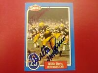 WILLIE DAVIS 1988 SWELL AUTOGRAPHED SIGNED AUTO FOOTBALL CARD #28 PACKERS HOF