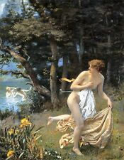 Diana's Maidens 1898 by Edward Robert Hughes Old Masters 13x16 Art Print