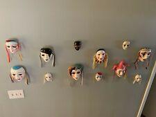 Set of 12 decorative masks