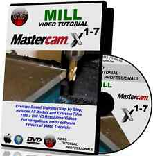 MASTERCAM X1-X7 MILL Video Tutorial Training Course in HD QUALITY X2 X3 X4 X5 X6