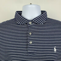 Polo Ralph Lauren Blue White Striped Mens Adult Polo Shirt Size XL