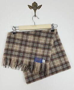 Pendleton Woolen Mills Made in USA Brown Plaid Scarf Vintage OS