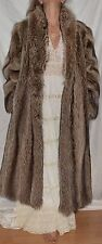 Genuine Natural Raccoon Full Length Fur Coat STAR QUALITY  Size Small - Medium