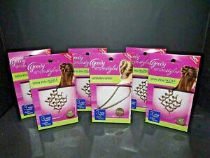 5 Packs Goody Simple Styles Spin Pin Mini Light Hair + Modern Updo Blonde (I)