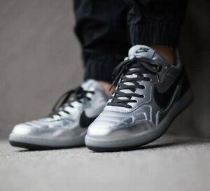 Nike Men's NSW TIEMPO '94 DLX QS Shoes  Metallic Silver UK 7.5 EUR 42 US 8.5